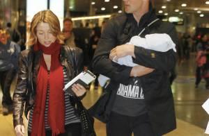 Dannii Minogue : Elle est enfin de retour à Londres... avec son homme et son fiston !