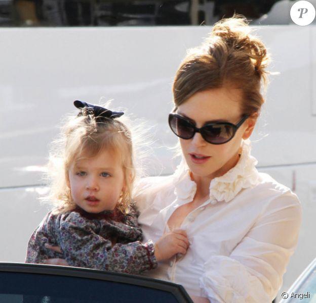 Nicole Kidman et sa fille Sunday Rose