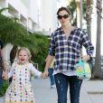 Jennifer Garner et sa fille aînée Violet (23 septembre 2010 à Los Angeles)