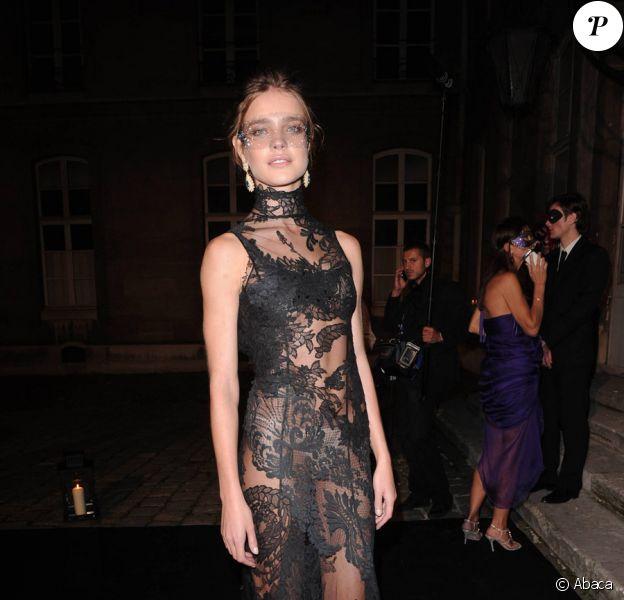 Natalia Vodianova lors de la soirée des 90 ans du magazine Vogue France à Paris le 30 septembre 2010