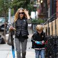 Sarah Jessica Parker emmène son fils James à l'école, New York, le 7 octobre