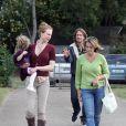 Nicole Kidman avec son mari Keith Urban et sa fille Sunday Rose à Nashville, le 5 octobre 2010
