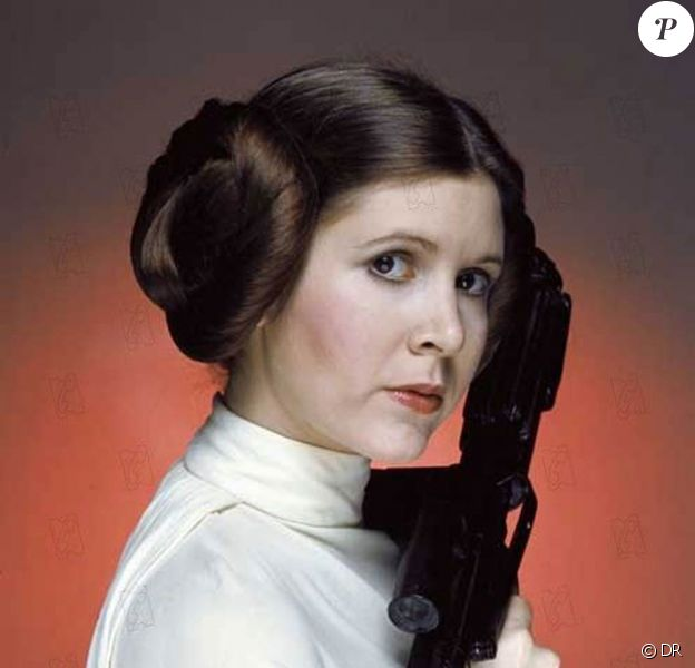 Carrie Fisher dans la saga Star Wars, 1977-1983.