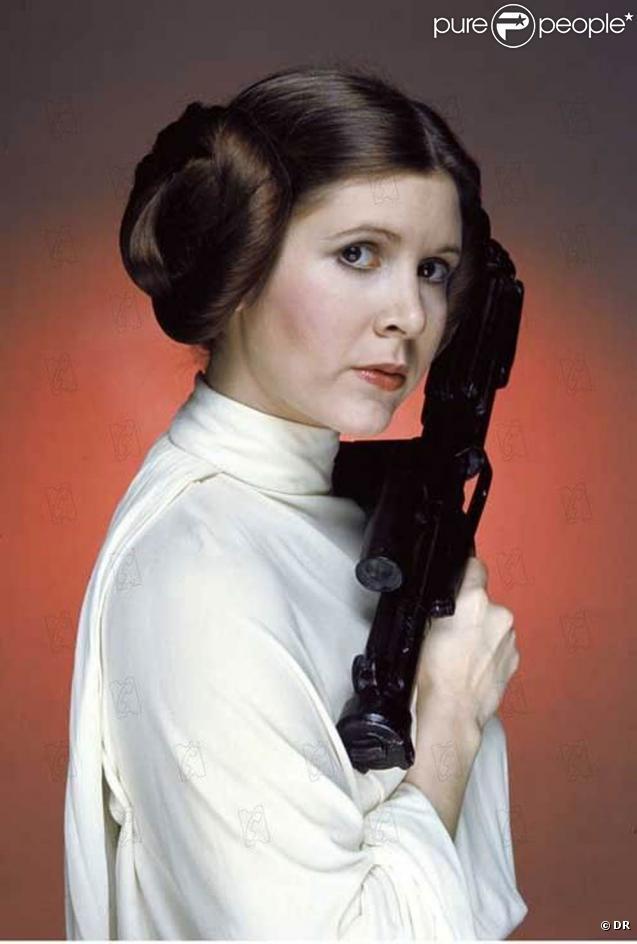 Carrie Fisher dans la saga  Star Wars , 1977-1983.
