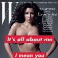 Kim Kardashian en couverture de W