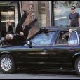 Jason Statham sur le tournage de Safe à New York le 8 octobre 2010
