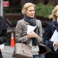 Kelly Rutherford sur le tournage de Gossip Girl à New York, le 18 octobre 2010
