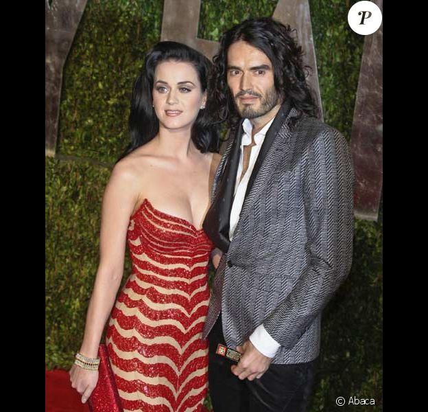 Katy Perry et Russell Brand lors de la soirée Vanity Fair en mars 2010