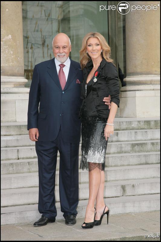 René Angélil et Céline Dion en mars 2008