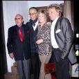 Clive Davis, Richard Perry, Jane Fonda et Rod Stewart à la soirée de lancement du nouvel album du rockeur au Madeo, dans West Hollywood, le 22 octobre 2010