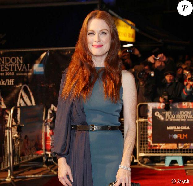 Julianne Moore, à l'occasion de l'avant-première de The kids are all right, présenté dans le cadre du London Film Festival, à Londres, le 25 octobre 2010.