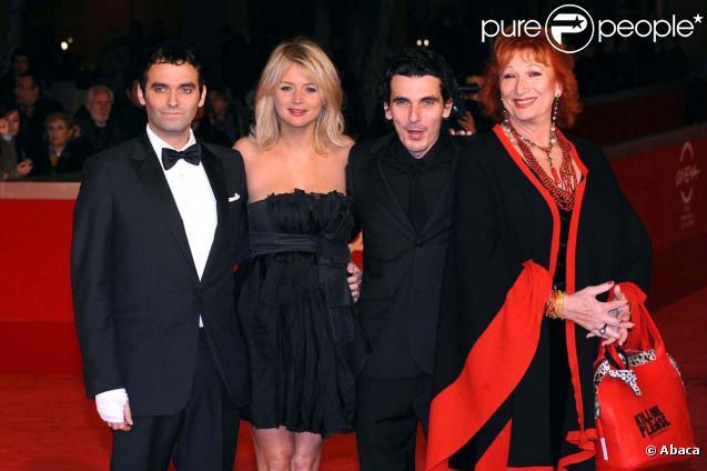 Festival de Rome le 3 novembre 2010 : Virgile Bramly, Virginie Efira, Olias Barco et Zazie de Paris.