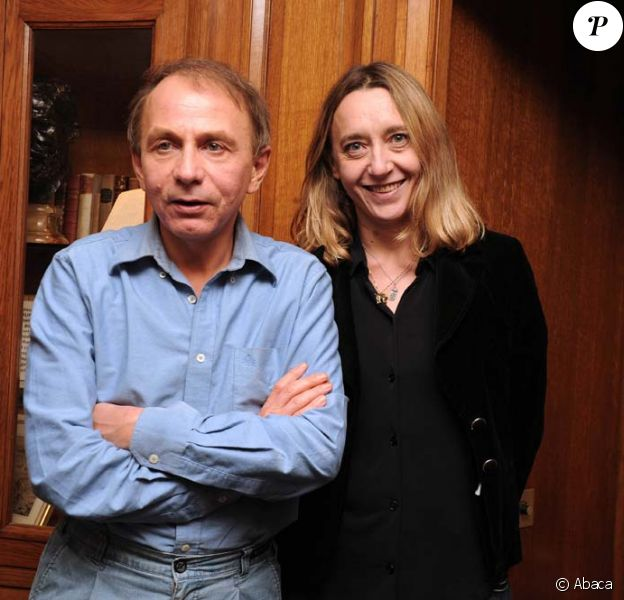 Remise du Goncourt et du Renaudot au restaurant Drouant, à PAirs, le 8 novembre 2010 : Michel Houellebecq et Virginie Despentes