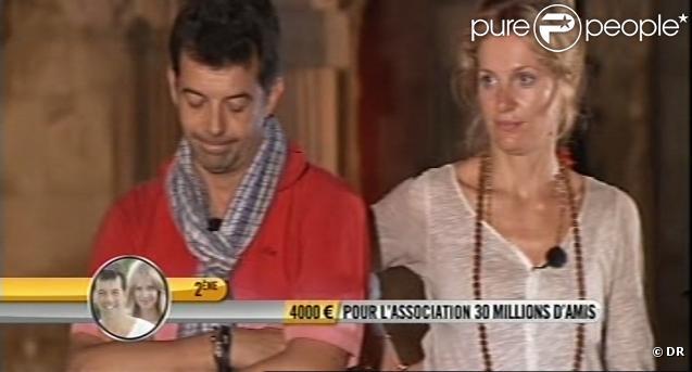 Stéphane et Sandrine rétrogradés d'une place à cause du drapeau noir : ils sont terriblement déçus... (émission du 13 novembre 2010)