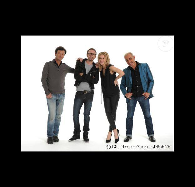 Henry Padovani, Christophe Willem, Véronic DiCaire et Olivier Schulteis composent le jury de X-Factor 2011.