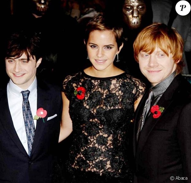 Daniel Radcliffe, Emma Watson et Rupert Grint lors de l'avant-première de Harry Potter et les reliques de la mort - partie 1, à New York, le 15 novembre 2010.
