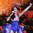 Katy Perry lors du défilé Victoria's Secret à New York en novembre 2010
