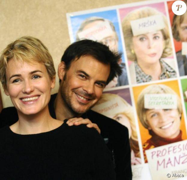 Judith Godrèche et François Ozon présentent le film Potiche, à Prague, le 26 novembre 2010.