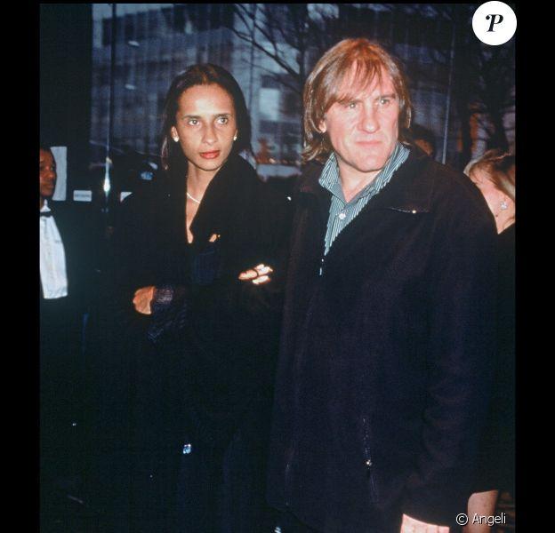 Gérard Depardieu et Karine Silla en 1996