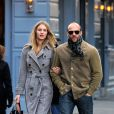 Jason Statham et Rosie Huntington-Whiteley lors d'une promenade en amoureux à West Village, à New York, le 28 novembre 2010.