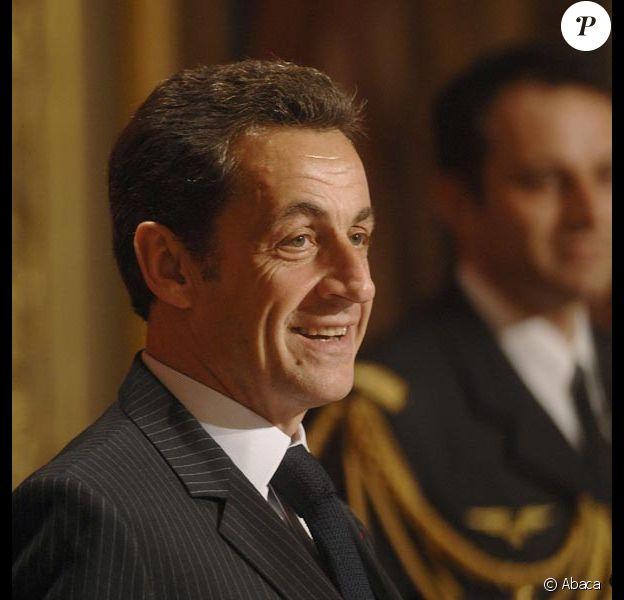 Nicolas Sarkozy lors de la cérémonie de remise de la Légion d'Honneur