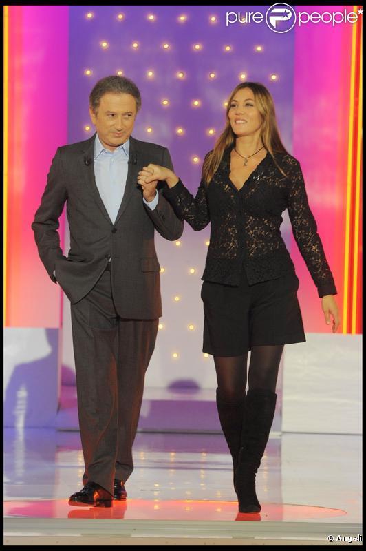 Michel Drucker et Mathilde Seigner.