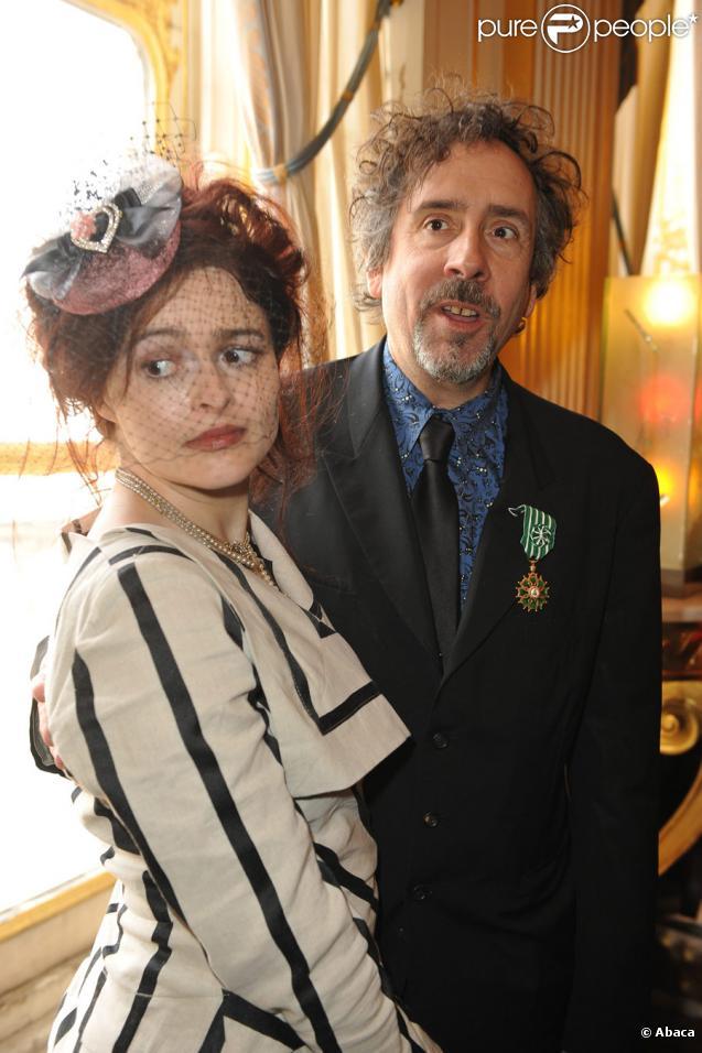 Tim Burton et Helena Bonham Carter : le cinéaste est honoré à Paris en mars 2010