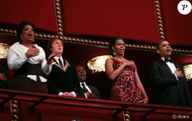 oprah winfrey paul mccartney et les obama lors de la remise des 33e prix du kennedy center. Black Bedroom Furniture Sets. Home Design Ideas