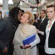 Lorie, Christian Karembeu et Bernadette au lancement de l'opération Pièce Jaunes, le 5 janvier 2010.