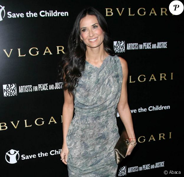 La ravissante Demi Moore lors de la grande soirée The Bulgari Benefit for Save the Children and Artists for Peace and Justice, à Los Angeles, le 13 janvier 2011.