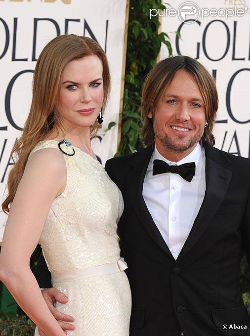 Nicole Kidman et Keith Urban lors des 68èmes Golden Globes à Los Angeles en janvier 2011