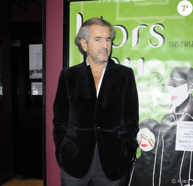 Bernard-Henri Lévylors de la projection du film Hors jeu à Paris en soutien au réalisateur Jafar Panahi le 1er février 2011