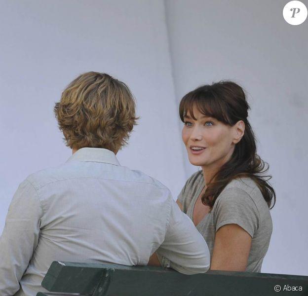 Sur le tournage de Midnight in Paris, de Woody Allen, lors de l'été 2010.