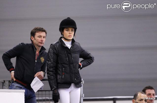 Charlotte Casiraghi lors du Jumping de Bordeaux le 4 février 2011