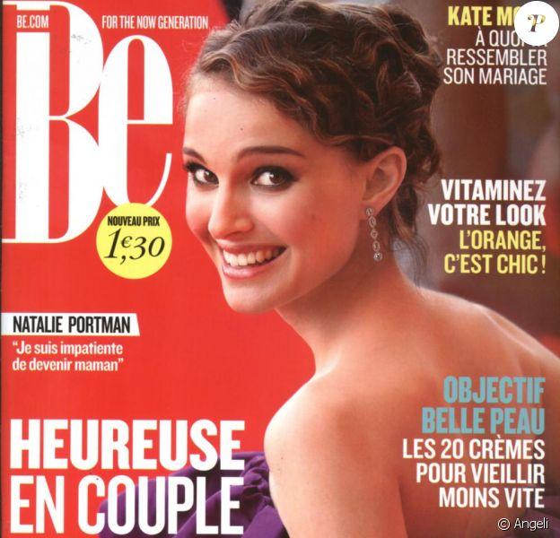 Natalie Portman en couverture de BE