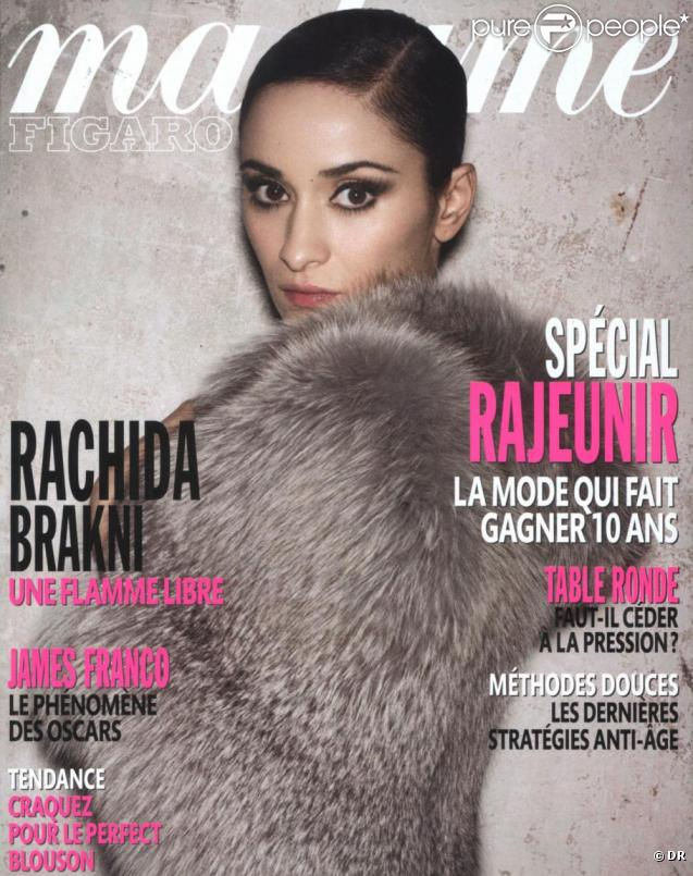Rachida Brakni en couverture de Madame Figaro