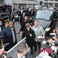 Justin Bieber a fait un passage par NRJ et TF1 pour présenter le long métrage Never Say Never, au Grand Rex, à Paris, le 17 février 2011.