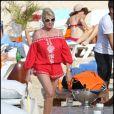 Ivana Trump passe quelques jours sous le soleil de Saint-Barthélémy. Février 2011