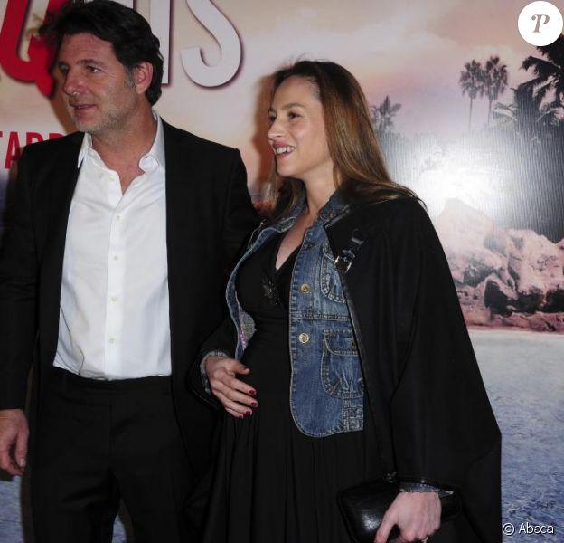 Philippe Lellouche et Vanessa Demouy lors de l'avant-première du film Le Marquis à Paris le 21 février 2011