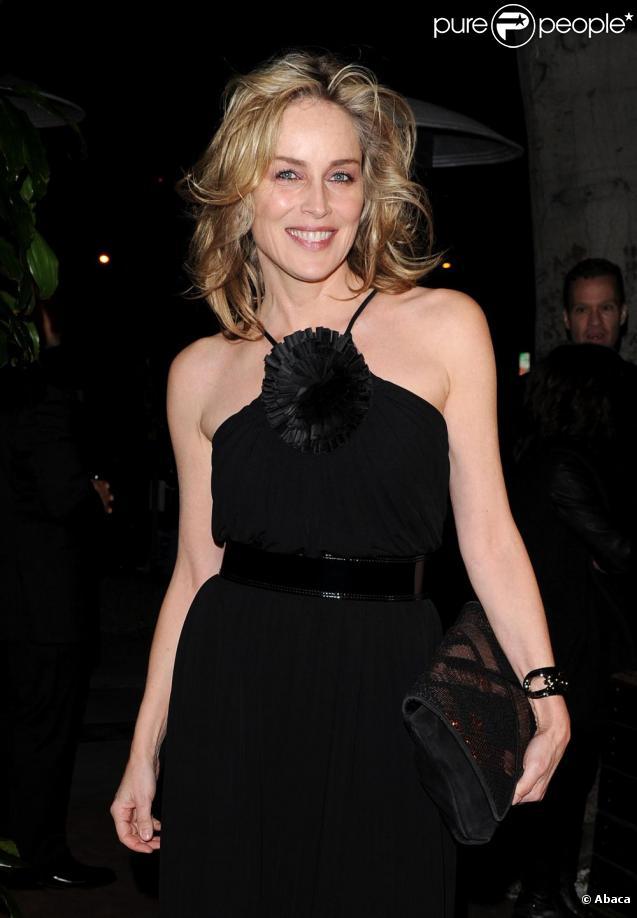 Sharon Stone au diner organisé par Chanel avant les Oscars au restaurant Madeos à Los Angeles, le 26 février 2011.
