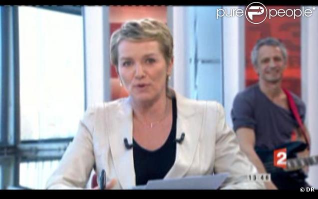 Elise Lucet lors de son come-back au JT de 13h00 de France 2, le 21 mars