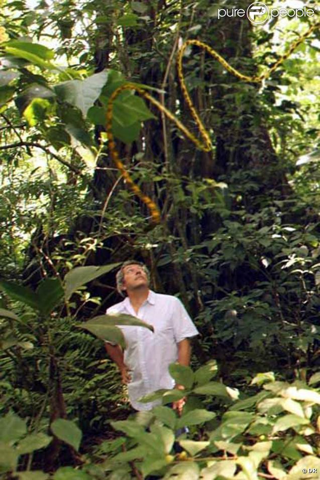 Alain Chabat lors des repérages pour  HOUBA ! Le Marsupilami et l'orchidée de Chicxulub  (film le plus cher produit en 2010 qui sortira le 4 avril 2012), au Mexique, en septembre 2010.