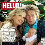 Rod Stewart présente son huitième enfant et embrasse une blonde déjantée !
