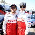 AJ Buckley et Stephen Moyer lors de la course Toyota des célébrités, à Long Beach le 5 avril 2011