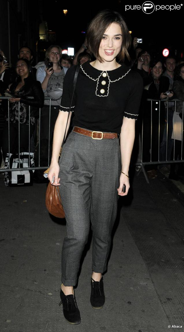 Keira Knightley en avril 2011 à Londres