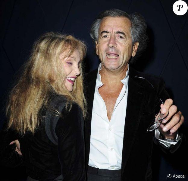 Arielle Dombasle et Bernard-Henri Lévy, à Paris, le 20 septembre 2010