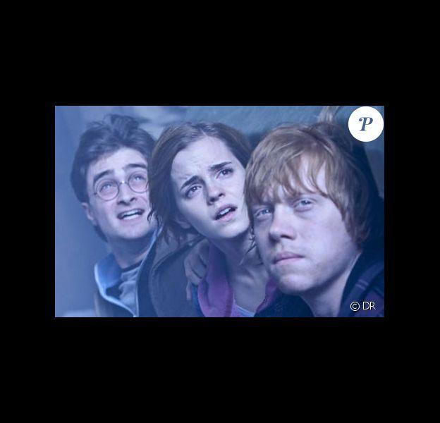 Daniel Radcliffe, Emma Watson et Rupert Grint dans Harry Potter et les reliques de la mort - Partie II