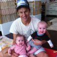 David Burtka, compagnon de Neil Patrick Harris, avec leurs jumeaux Harper et Gideon. Dimanche 17 avril 2011