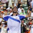 """""""Novak Djokovic (photo : avril 2011, Masters de Miami), pas en lice dans le tournoi, a malgré tout contribué au succès de la traditionnelle soirée des joueurs (le 13 avril) du tournoi de Monte-Carlo, travesti ! Le Djoker est le champion des pitreries. """""""
