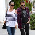 Johnny et Laeticia Hallyday à Los Angeles le 5 avril 2011